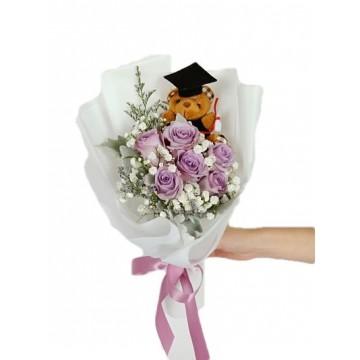 Graduation Rose Purple